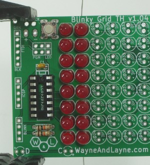 Completed Blinky GRID board