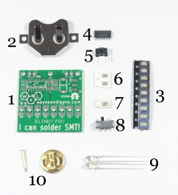 Annotated Blinky POV SMT Kit