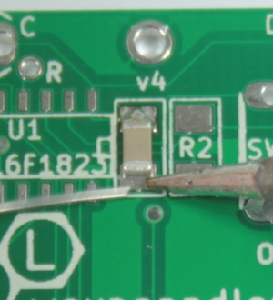 Solder the other pad