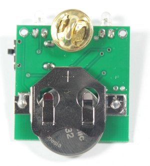 Insert a CR2032 coin-cell battery