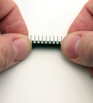 Carefully bend the legs of the MCP23017 IO Expander