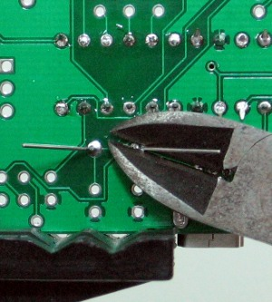 Solder connections