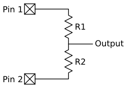 Two pin voltage divider