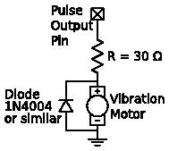 Tap-Tempo Metronome vibration motor circuit