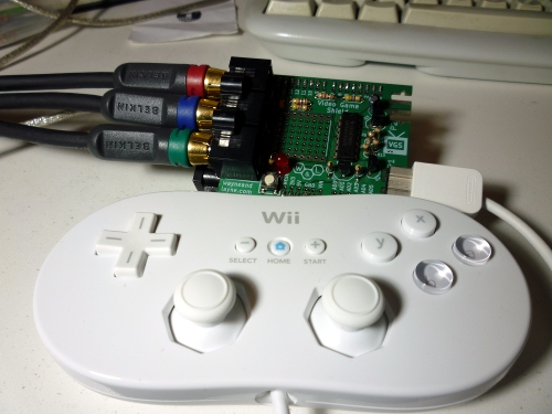 Classic Controller with Video Game Shield