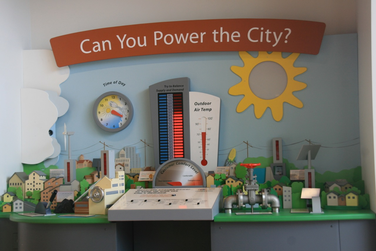 Exhibits Wayne And Layne Build A Blinky Smt Kit We Helped Create An Interactive Exhibit That Shows Some Of The Facts Behind Power Generation Grid Takes You Through Day